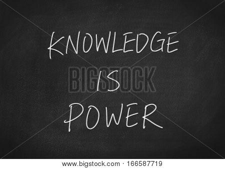 knowledge is power concept word on blackboard chalkboard background