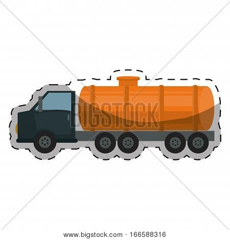 cistern truck gasoline or oil industry related icons image vector illustration design