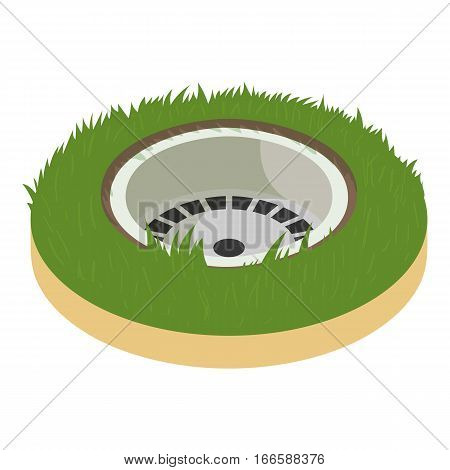 Golf hole icon. Cartoon illustration of golf hole vector icon for web design