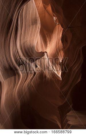 View inside a slot canyon - Antelope Canyon Arizona