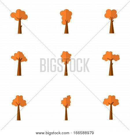 Illustration of tree spring vector collection stock