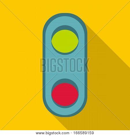 Semaphore trafficl ight icon. Flat illustration of semaphore traffic light vector icon for web design