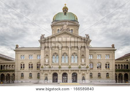 The Swiss Capital Building in Bern, Switzerland