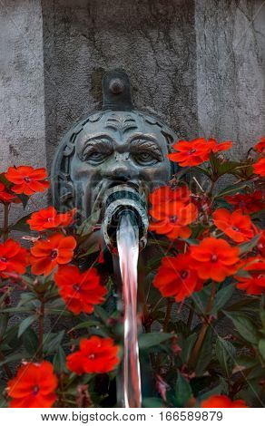 One of the many drinking fountains in Bern Switzerland