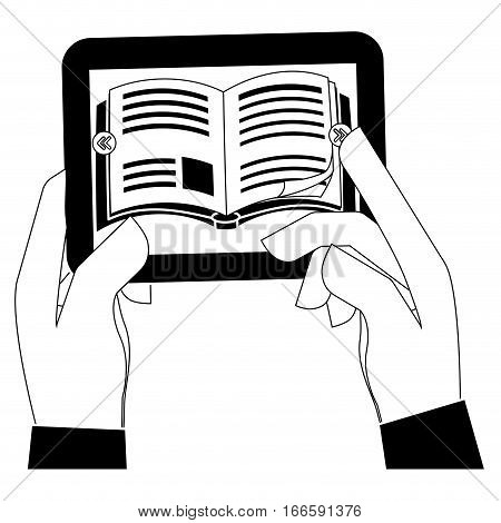 ebook or book download icon image vector illustration design