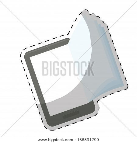 ebook or book download icon image sticker  vector illustration design