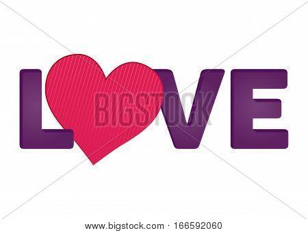 Vector stock of love typography design happy valentines background