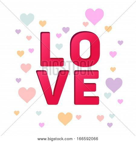 Vector stock of love typography design happy valentines background