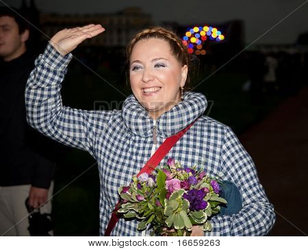 ARKHANGELSKOE, RUSSIA - JUNE 7: Singer Nino Katamadze. 6th International Jazz Festival