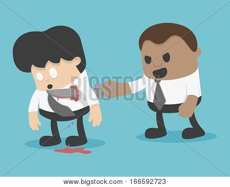 illustration Businessman blackmail Concept eps . 10