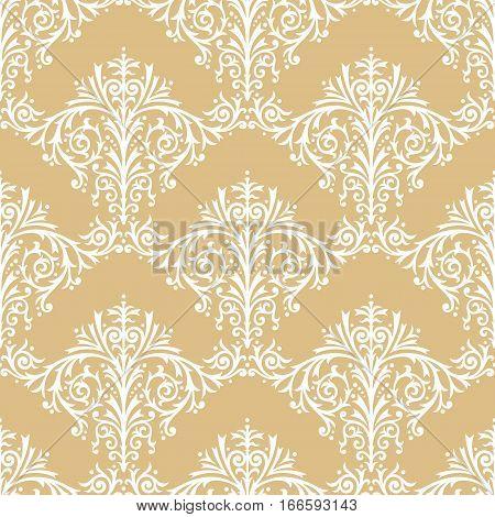 Damask Seamless Floral Pattern Vintage Background Vector