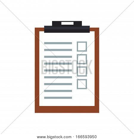 checklist page icon over white background. colorful desgin. vector illustration