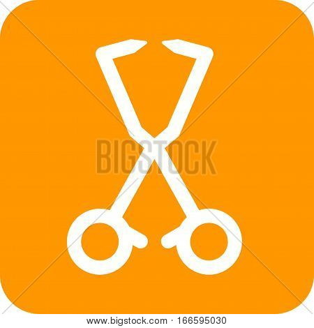 Towel, clamps, sterilizing icon vector image. Can also be used for dentist equipment. Suitable for mobile apps, web apps and print media.
