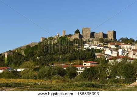 Village and castle of Montemor o velho Beiras region Portugal