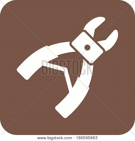 Forceps, dentist, equipment icon vector image. Can also be used for dentist equipment. Suitable for mobile apps, web apps and print media.