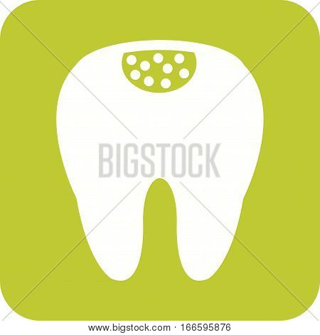 Tooth, decay, teeth icon vector image. Can also be used for dentist equipment. Suitable for mobile apps, web apps and print media.