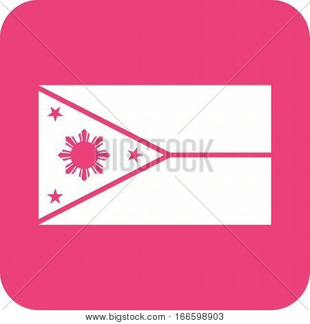 Philippines, flag, national icon vector image. Can also be used for flags. Suitable for web apps, mobile apps and print media.