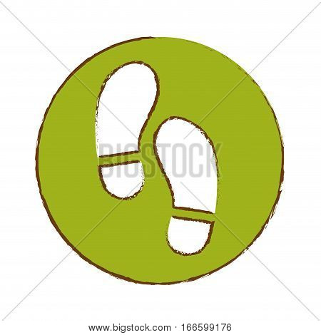 foot steps icon image vector illustration design