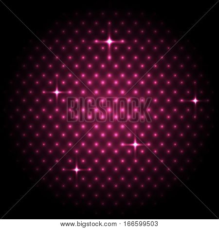 Abstract global with pink dots background, stock vector