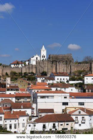 Castle and village of Penela Beiras region Portugal