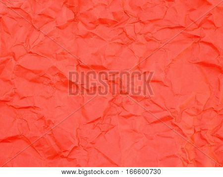 wrinkled red paper texture, crease abstract pattern background