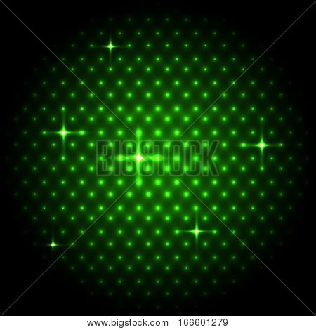 Abstract global with green dots background, stock vector
