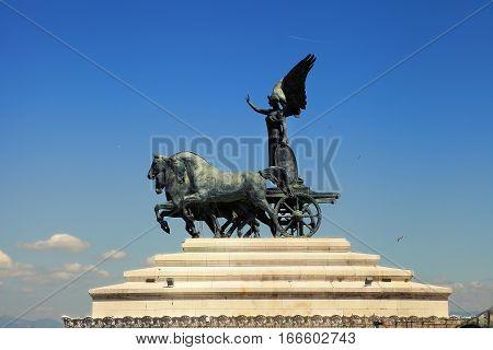 Vittorio Emanuele II the museum complex on the Piazza Venezia in Rome Italy