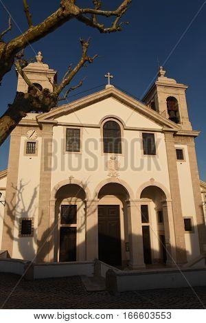 Facade of the Church of Ourem Beiras region Portugal