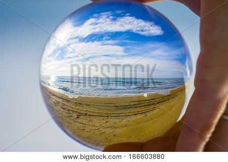 Glass ball. The fate of the planet Earth in human hands.