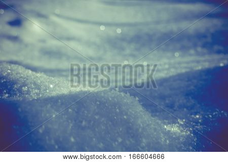 Fresh Snow Macro Retro