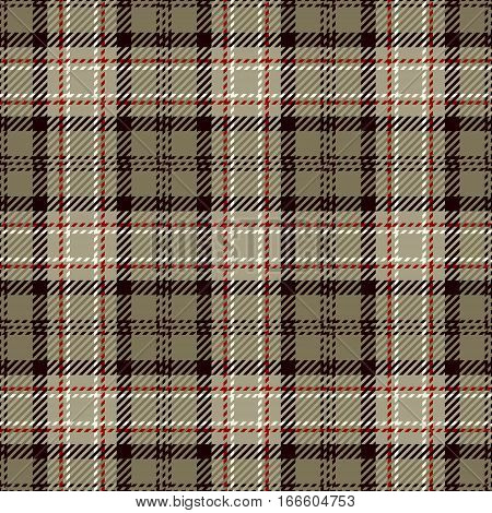 Tartan Seamless Pattern Background. White Black Beige and Red Plaid Tartan Flannel Shirt Patterns. Trendy Tiles Vector Illustration for Wallpapers.