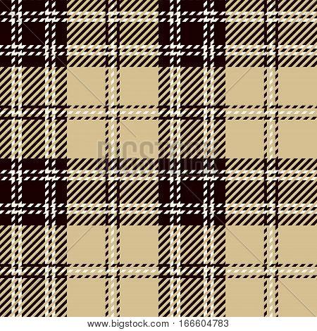 Tartan Seamless Pattern Background. White Black and Beige Plaid Tartan Flannel Shirt Patterns. Trendy Tiles Vector Illustration for Wallpapers.