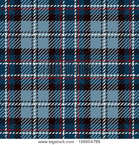 Tartan Seamless Pattern Background. Red White Black and Blue Plaid Tartan Flannel Shirt Patterns. Trendy Tiles Vector Illustration for Wallpapers.
