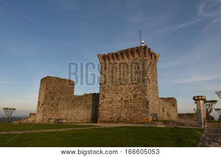 View of the Castle of Ourem Beiras region Portugal