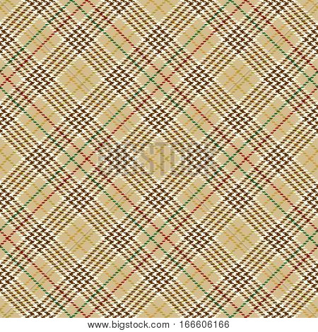 Tartan Seamless Pattern Background. Red Brown Green Gold and White Plaid Tartan Flannel Shirt Patterns. Trendy Tiles Vector Illustration for Wallpapers.