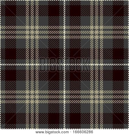 Tartan Seamless Pattern Background. Gray Black White and Camel Beige Plaid Tartan Flannel Shirt Patterns. Trendy Tiles Vector Illustration for Wallpapers.