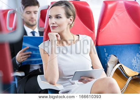 Woman In Her Way To Business Meeting