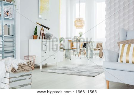 Functional Apartment In White