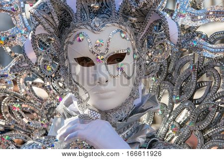 Masks typically worn during traditional Carnival of Venice