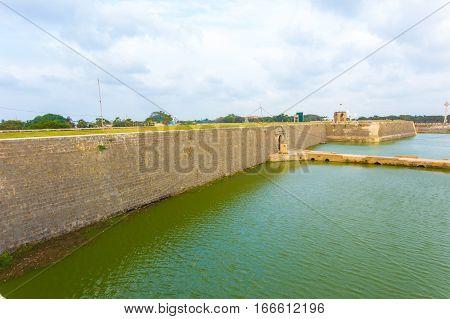 Jaffna Fort Entrance Bridge Moat Distant H