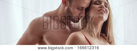 Couple Sharing Intimate Moment