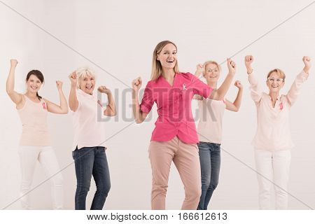 Women Fighting With Cancer