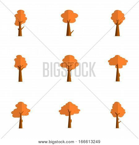 vector flat of tree various collection stock