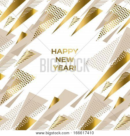 geometry luxury pastel color header or card.  abstract decorative Christmas vector illustration. gold and beige pale color winter festive background.