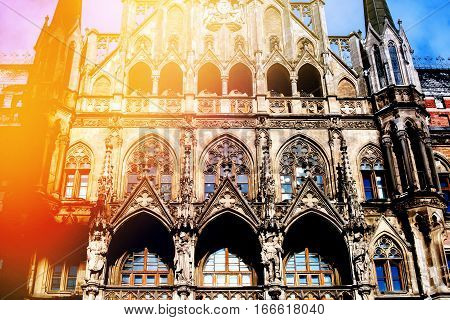Munich Marienplatz New Town Hall Germany Europe