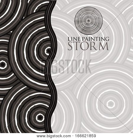 Line Painting Invite/ Greeting Card In Vector Format.