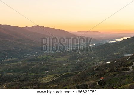 Valley of the Jerte in Cáceres Spain