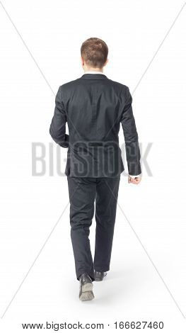Man in suit isolated on a white background