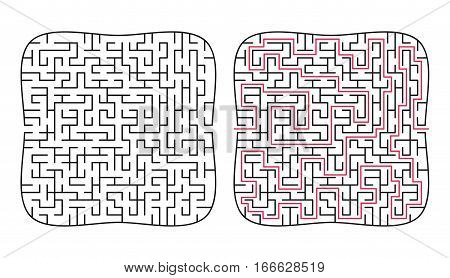Vector labyrinth 67. Maze / Labyrinth with entry and exit.