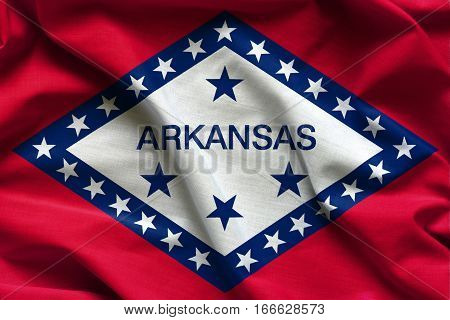 Flags of the U.S. states: Waving Fabric Flag of Arkansas